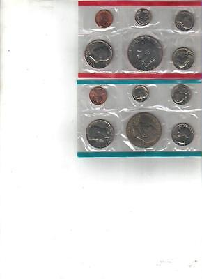 1976 Uncirculated P & D US Mint 12 Coin Set Dol. Half Quarter Dime Nickel Penny