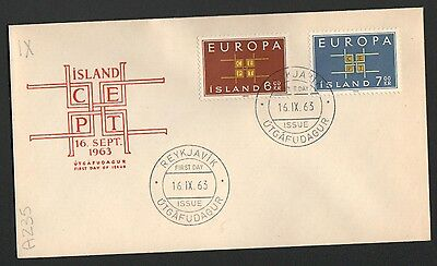 ZS-K137 ICELAND - Europa Cept, Fdc 1963 Not Posted Cover