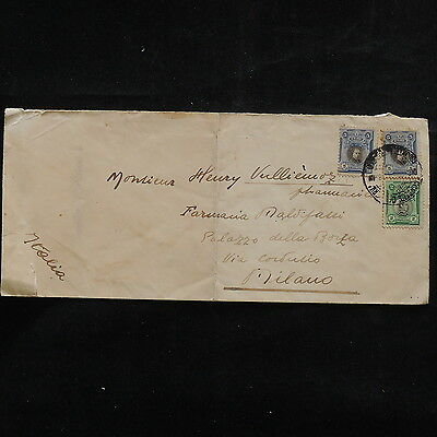 ZS-R552 PERU - Cover, 1938 Air Mail To Milan Italy