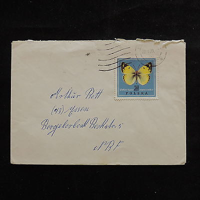 ZS-R803 BUTTERFLIES - Poland, 1970 Air Mail To France Cover