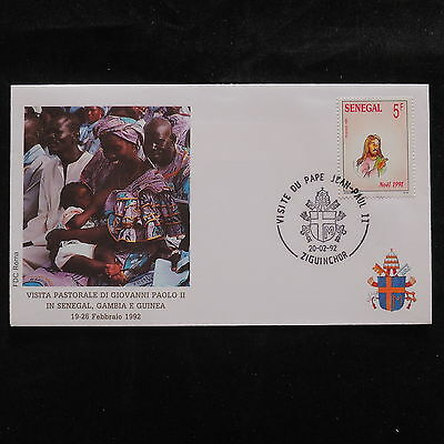 ZS-S623 SENEGAL IND - john paul Ii, Visit To Ziguinchor, Africa, 1992 Cover