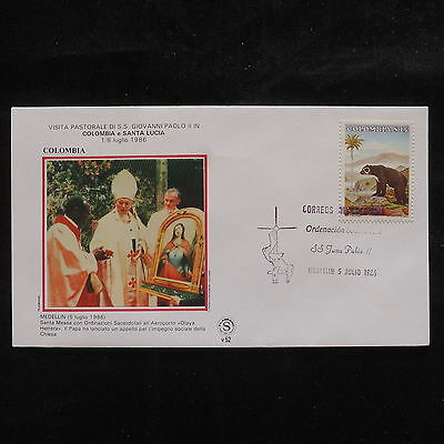 ZS-S668 COLOMBIA - John Paul II, Visit To Medellin 1986, Wild Animals Cover