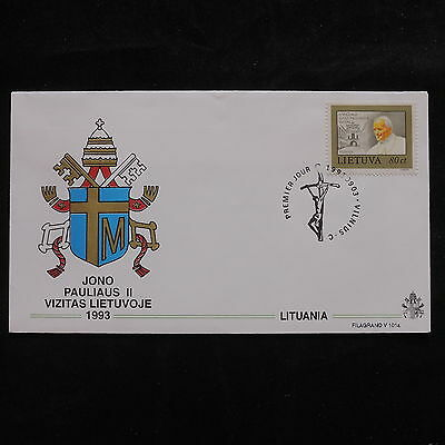 ZS-S690 LITHUANIA - John Paul II, Visit To Vilnius, 1993, Fdc Cover