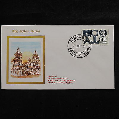 ZS-S701 MEXICO - John Paul II, Visit To Admon, 1979, Golden Series Cover
