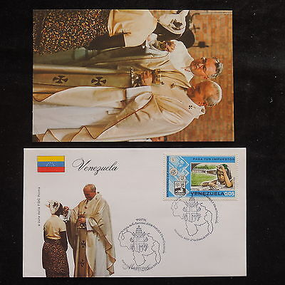 ZS-S750 VENEZUELA - John Paul II, Visit Maracaibo, Fdc, 1985, W/Photo Cover