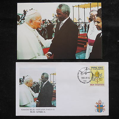 ZS-S759 SOUTH AFRICA IND - john paul Ii, Visit To Africa 1995 W/Photo Cover