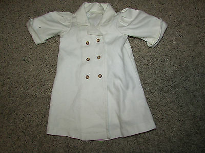 American Girl Samantha's White Travel Duster Retired