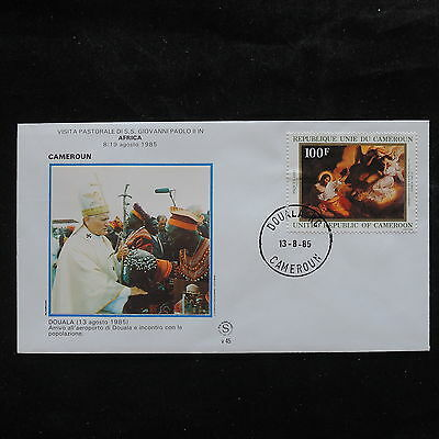 ZS-S897 CAMEROON IND - John Paul II, Visit To Douala, Africa, 1985 Cover