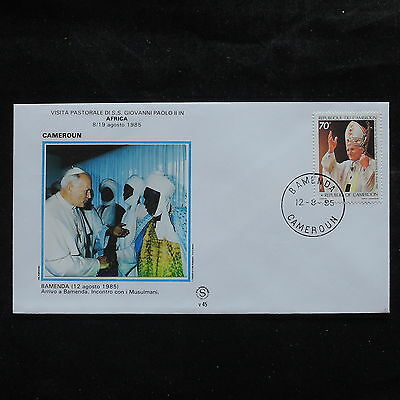 ZS-S898 CAMEROON IND - John Paul II, Visit To Bamenda, Africa, 1985 Cover