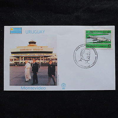 ZS-S927 URUGUAY - John Paul II, Visit To Montevideo. 1988 Cover