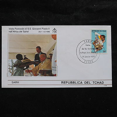 ZS-S931 CHAD IND - John Paul II, Visit To Sarh, Africa, 1990 Cover