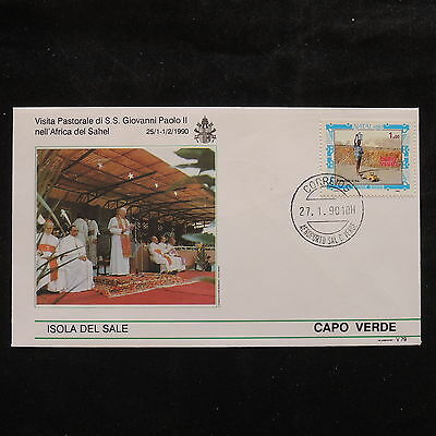 ZS-S935 CAPE VERDE IND - John Paul II, Visit To Isola Del Sale, 1990 Cover