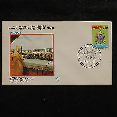 ZS-S986 ECUADOR - John Paul II, Visit To Quito, 1982, Great Franking Cover