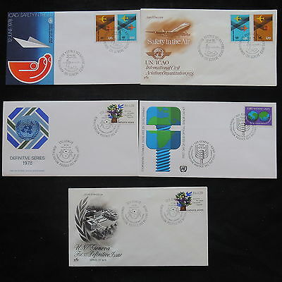ZS-T055 UNITED NATIONS - Fdc, 1978 Lot Of 5 Different Covers
