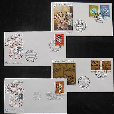 ZS-T155 UNITED NATIONS - Fdc, 1972 Lot Of 4 Different Covers
