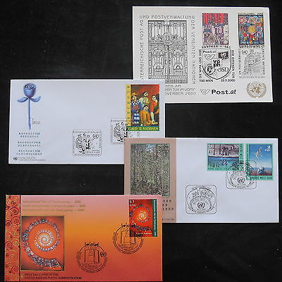 ZS-T159 UNITED NATIONS - Fdc, 2000 Lot Of 4 Different Covers