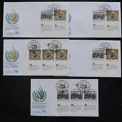 ZS-T175 UNITED NATIONS - Fdc, Lot Of 5 Different 1989 Covers
