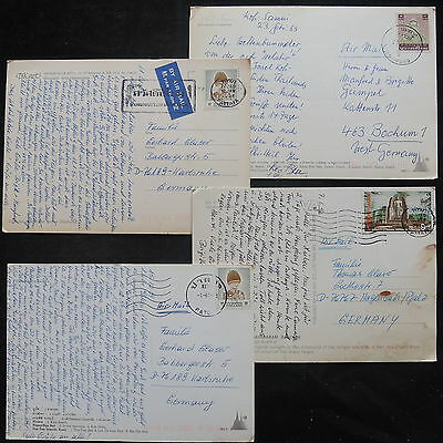 ZS-T190 THAILAND - Postcard, Lot Of 4 Different