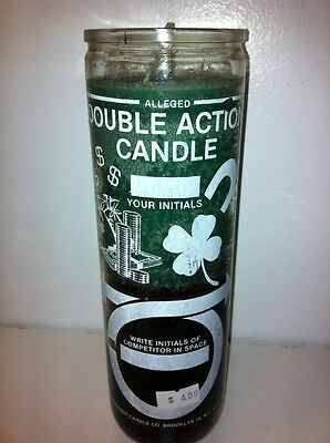 Reverse Double Action Money 7 Day 2 Color (Grn & Blk) Unscented Candle In Glass