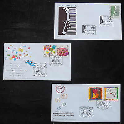 ZS-T207 UNITED NATIONS - Fdc, 2001 Lot Of 3 Different Covers