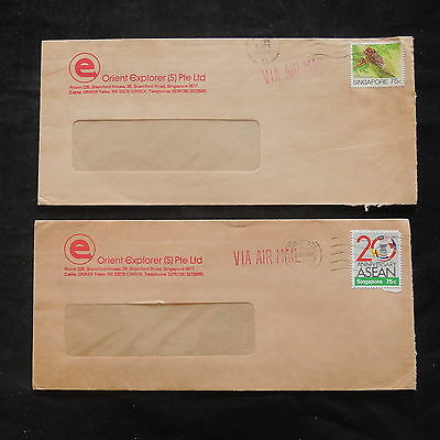 ZS-T220 SINGAPORE IND - Insects, Lot Of 2 Different Covers