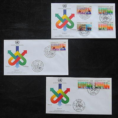 ZS-T223 UNITED NATIONS - Fdc, 1985, Lot Of 3 Different Covers
