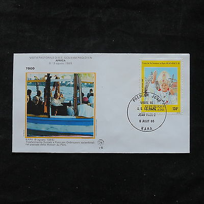 ZS-T313 TOGO IND - John Paul Ii, 1985 Visit To Kara, Africa Fdc Cover