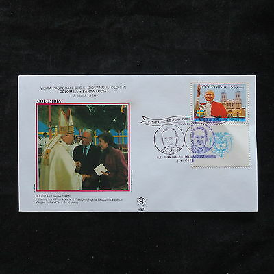 ZS-T368 COLOMBIA - John Paul Ii, 1986 Fdc Visit To Bogota Cover