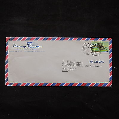ZS-T461 BARBADOS IND - Fish, 1988 Airmail To Milan Italy Cover