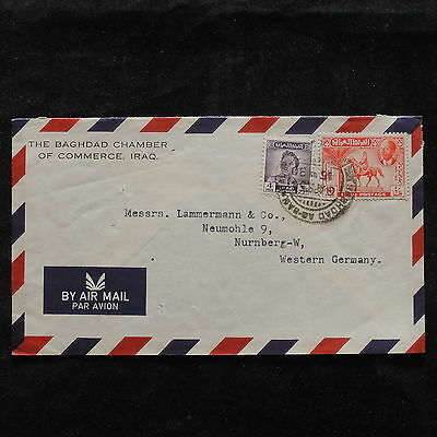 ZS-T921 IRAQ - Cover, Airmail To Germany 1954