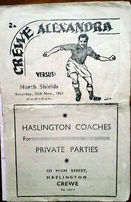 Crewe V North Shields 25/11/1950 Fa Cup