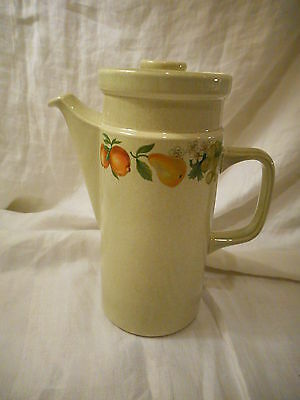Vintage Coffee Pot & Lid, Wedgwood China, Quince Pattern, England, Pears, Fruit