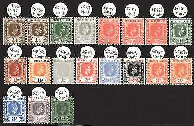 Leeward Island Kgvi 1938-51 Cv £120++ 19 Stamp M/mint Collection Nice Lot