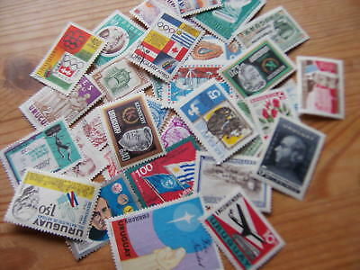 35 Different Stamps From Uruguay,excellent Lot.