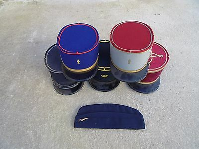 Lot 6 French Hat Cap Post War  Infantry Alat Air force Medical