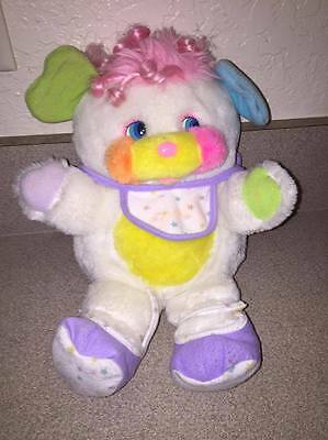 """Vintage Puffball Popples Plush Toy Mattel cool colors ! 1980s 12"""""""