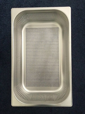STAINLESS STEEL PERFORATED 1/1 GASTRONORM PAN 200mm DEEP GASTRO TRAY