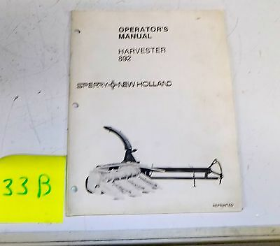 1981 Sperry New Holland Harvester 892 83 Reprint     S33B