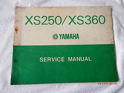 Official Yamaha Xs250 / Xs360 Factory Supplied Service Manual 1
