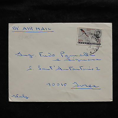 ZS-U234 ETHIOPIA - Birds, 1967, Airmail To Italy Cover