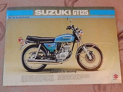 Suzuki Gt125 Original Sales Brochure - 1970 's