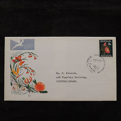 ZS-U653 SOUTH AFRICA IND - Flowers, 1971 Fdc, Great Airmail Cover
