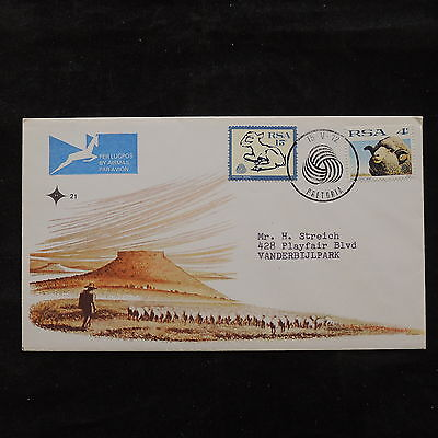 ZS-U654 SOUTH AFRICA IND - Fdc, Wild Animals, 1972 Sheeps, Great Airmail Cover