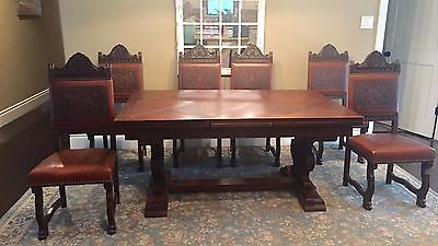 French Renaissance Dining Table and Chairs