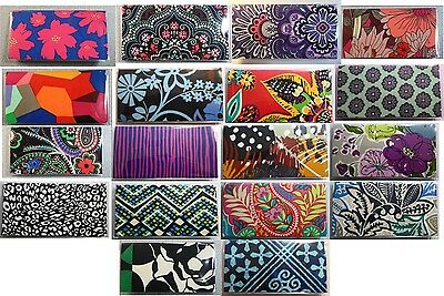 Vera Bradley Fabric Vinyl CheckBook Cover W+W/O Persnalizd Monogram Check book 3