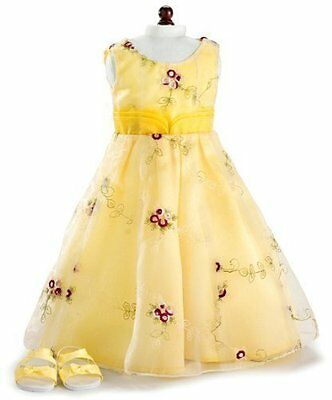 "Holiday Yellow Dress and Sandals fits 18"" American Girl® Dolls...NEW"