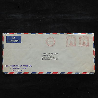 ZS-U706 INDIA IND - Airmail, Entire, 1958 Calcutta To Germany Cover