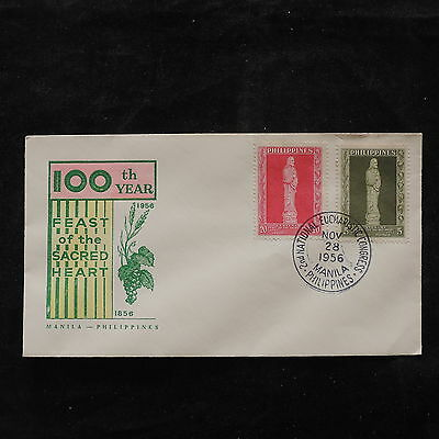 ZS-U759 PHILIPPINES IND - Fdc, 1956 100Th Year Sacred Heart Cover