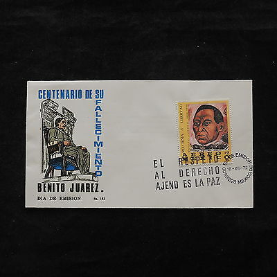 ZS-V177 MEXICO - Fdc, 1972 , Benito Juarex, Great Airmail Cover