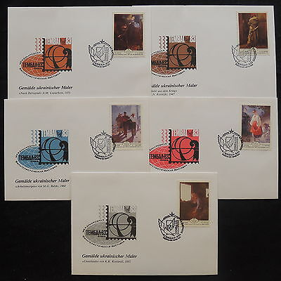 ZS-V976 PAINTINGS - Russia, 1983, Fdc, Great Franking, Lot Of 5 Covers